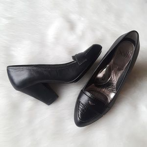 Söfft Abena Stacked Heel Leather Loafers